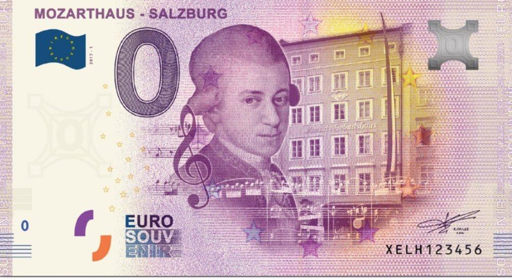 Mozart 0 Euro Banknote: W. A. Mozart