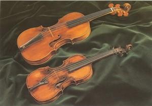 Postkarte: Mozarts Konzertgeige - Kindergeige