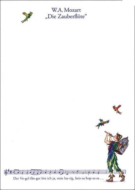Notizblock: Vogelfänger klein