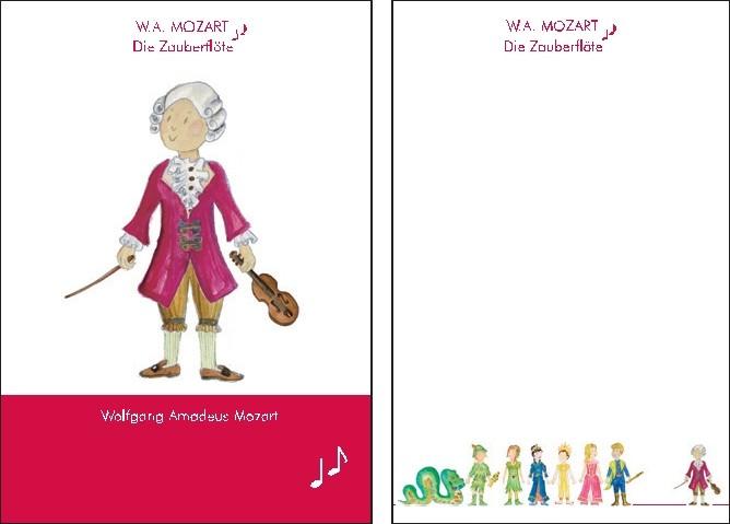 Notizblock: W. A. Mozart klein