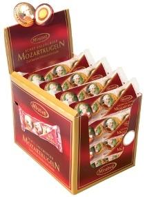 Karton: 16 x 3 Mozartkugeln in der Impulspackung