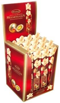 Karton: 16 x 5 Mozartkugeln ''Blumengrüße''