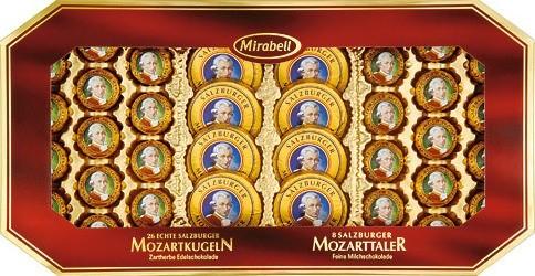 26 Mozartkugeln + 8 Mozarttaler