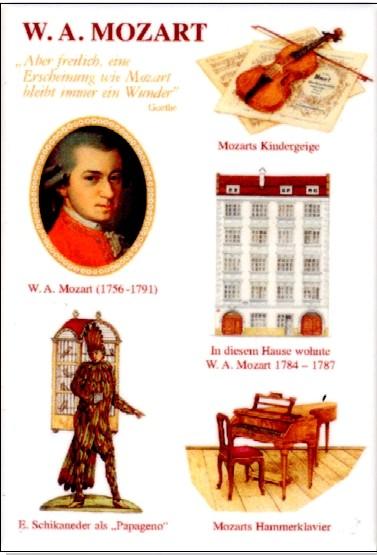 Magnet: W. A. Mozart weiss