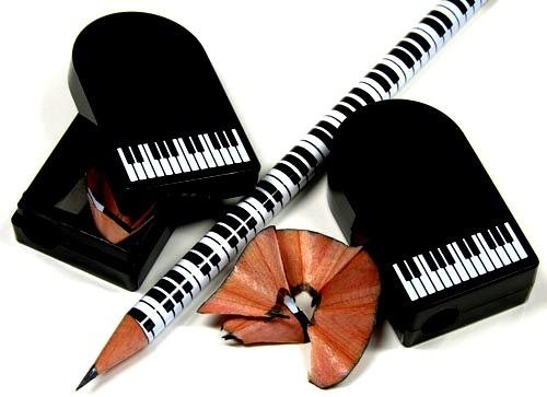 Bleistiftspitzer: Klaviertasten