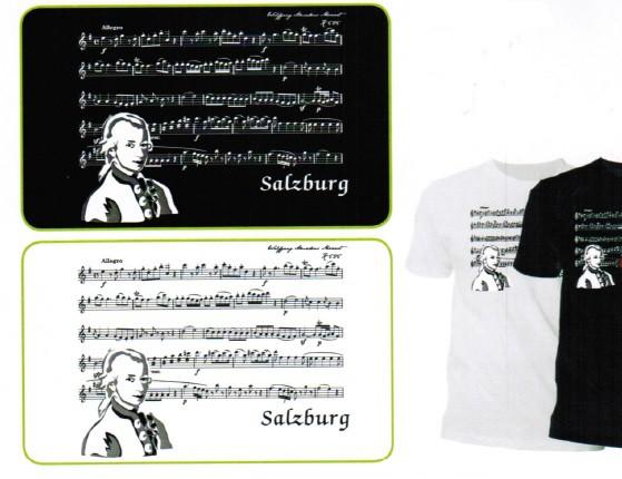 T-Shirt Notenbild Mozart rot