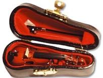 Violine im Geigenkasten groß