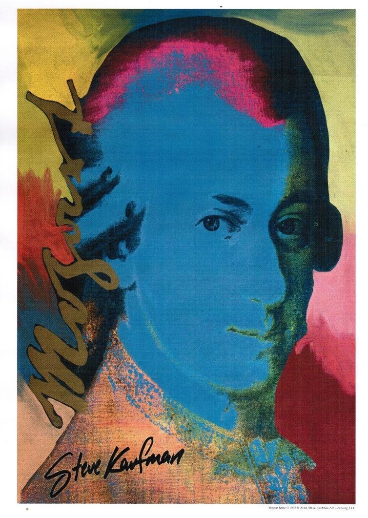 Poster Mozart Portrait von Steve Kaufman