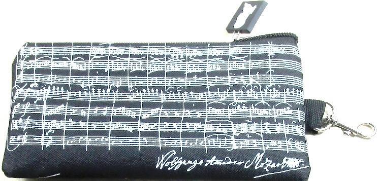 Pen case Mozart black / white