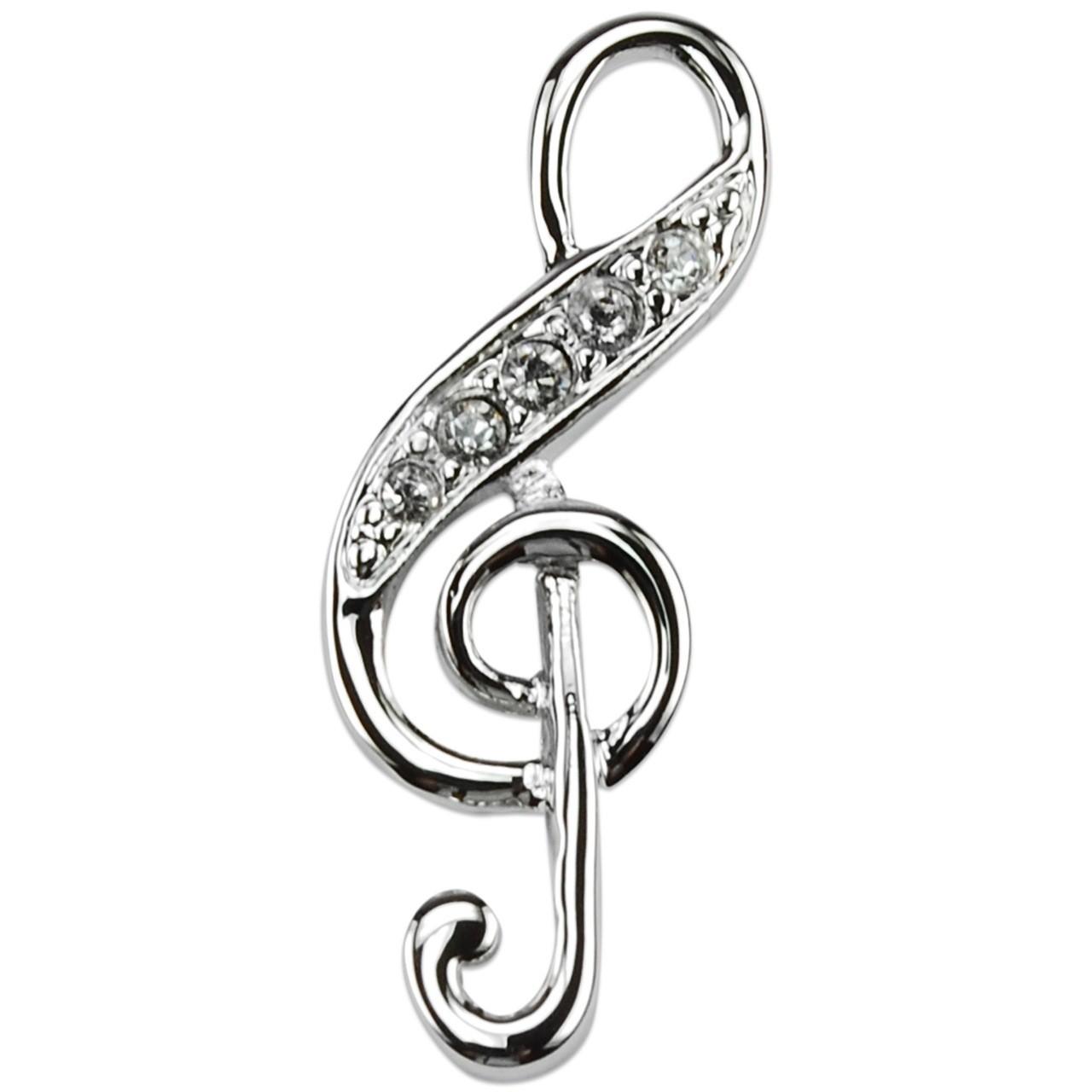 Crystalp Schmuck Anstecker Violinschlüssel