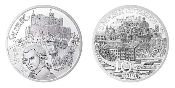 Silbermünze Salzburg