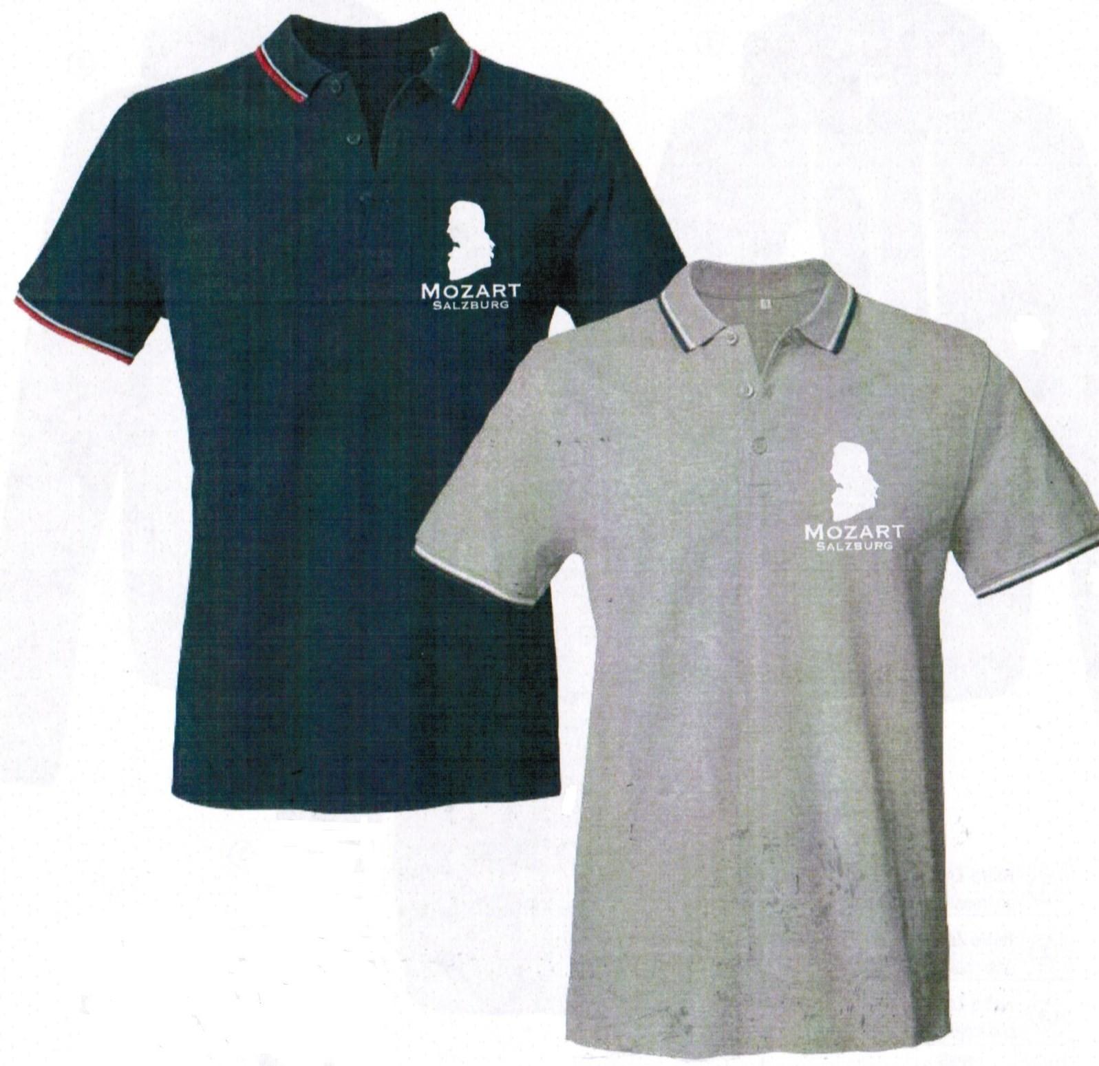 T-Shirt Polo Mozarthaus grau