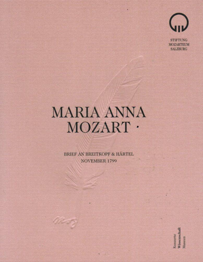 Faksimile: Maria Anna Mozart