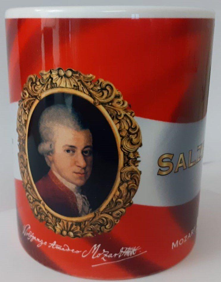 Cup: Mozart portrait