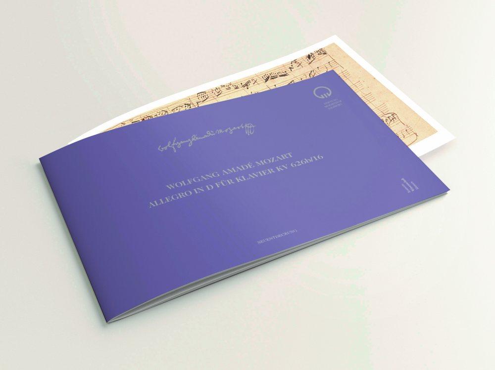 Facsimile: W.A. Mozart: Allegro in D for piano KV 626b/16